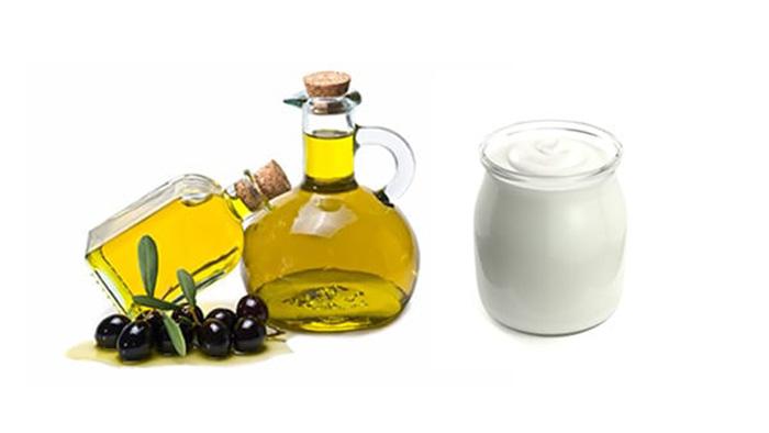 dầu oliu kết hợp sữa chua cải thiện da thâm sạm