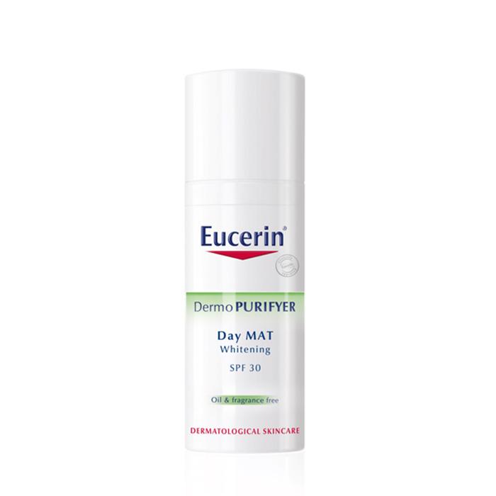 Kem dưỡng da trị mụn Eucerin Dermopurifyer day mat whitening