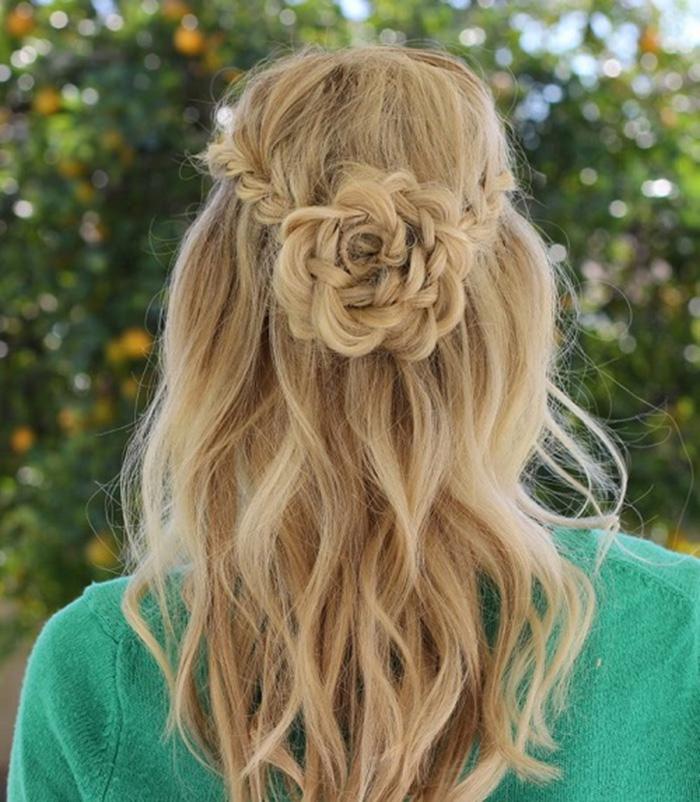 tóc bông hoa