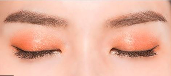 màu mắt cam đào