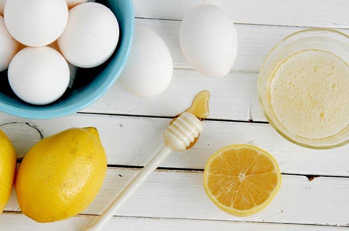 mặt nạ chanh và trứng